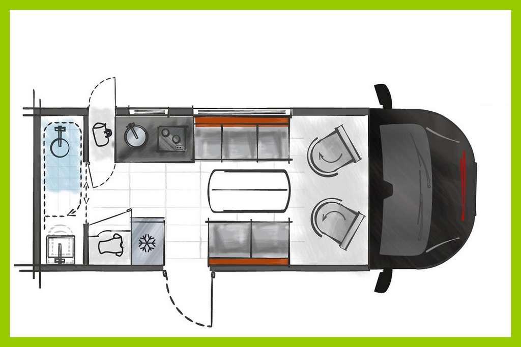 Viele neue Ideen beim Kastenwagen Challenger Combo X150. (Foto: Challenger)