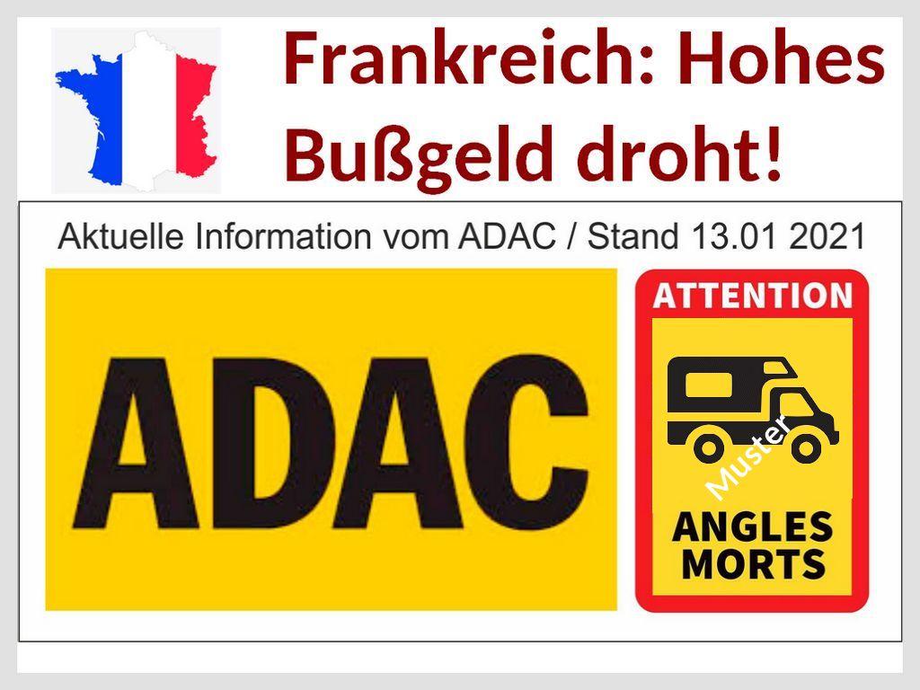 """Frankreich-Fahrer aufpassen! Hohes Bußgeld droht ab sofort! Kennzeichnungspflicht für """"Toter Winkel"""" für alle Fahrzeuge größer 3,5 to post thumbnail image"""
