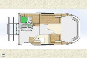 Der Grundriss des Lada Granta Reisemobil macht klar: Platz ist in der kleinsten Hütte. (Foto: Schwab/madeinrussia.de)
