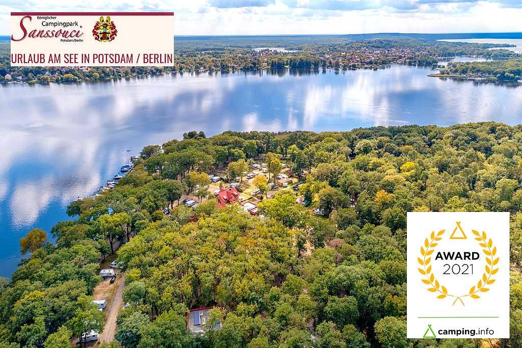 Auch 2021: Der königliche Campingpark Sanssouci in Potsdam zählt zu den besten Campingplätzen Europas. (Foto: Sanssouci)