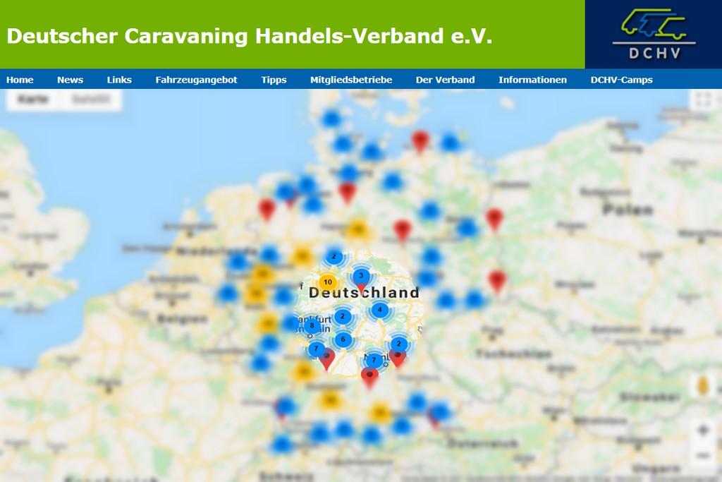 Hier wird ihnen kompetent geholfen. Auf der interaktiven Karte des DCHV finden Sie ihren Experten ganz einfach in der Nähe. (screenshot: DCHV; Montage: tom/dkf)
