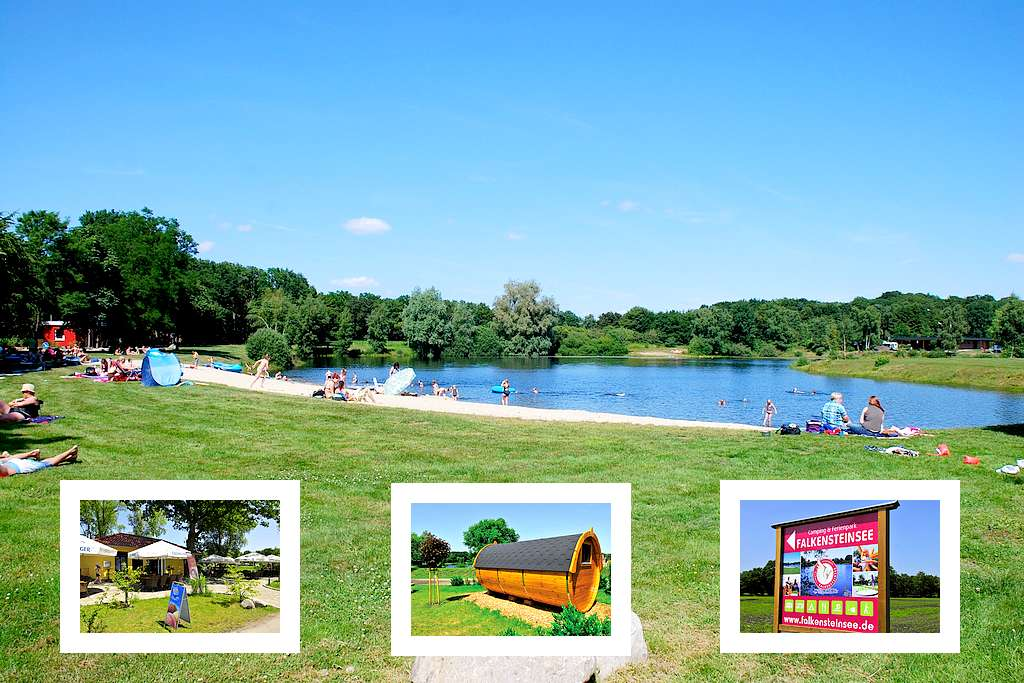 Der Camping & Freizeitpark Falkensteinsee liegt idyllisch zwischen Oldenburg und Bremen. (Foto: Falkensteinsee)