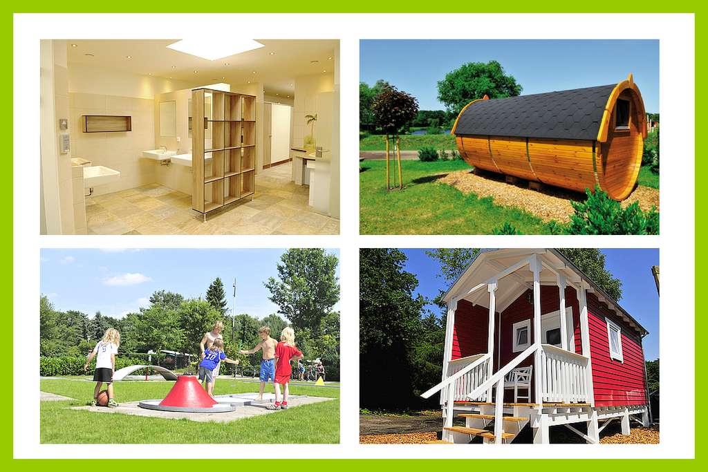 Wohlfühlambiente und viel Abwechselung bietet der Camping&Freizeitpark Falkensteinsee in Niedersachsen. (Foto: Camping Falkensteinsee)