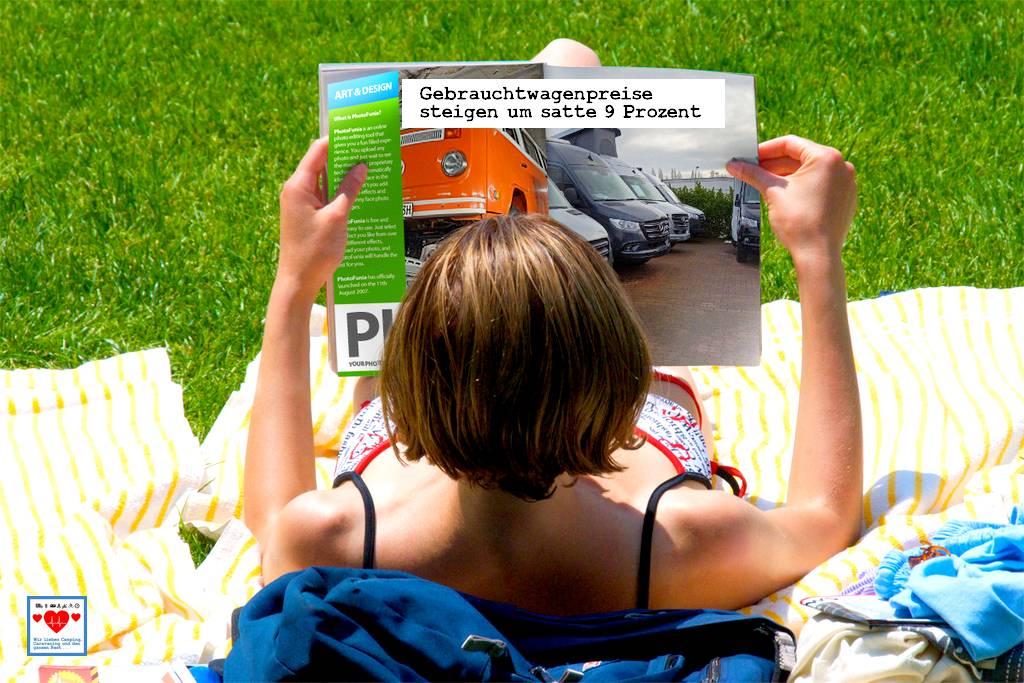 Das massiv gesteigerte Interesse am Caravaning als Urlaubsform schlägt nun auch voll in den Gebrauchtfahrzeugmarkt durch. (Montage: tom/dkf)
