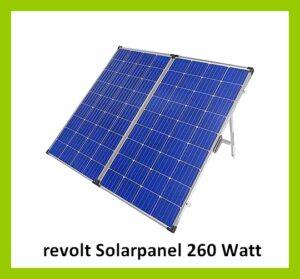 Einfach autark sein! Mit dem faltbaren mobilen Solarpanel 260 Watt von revolt hat man sein eigenes Stromkraftwerk dabei. (Foto: Pearl)