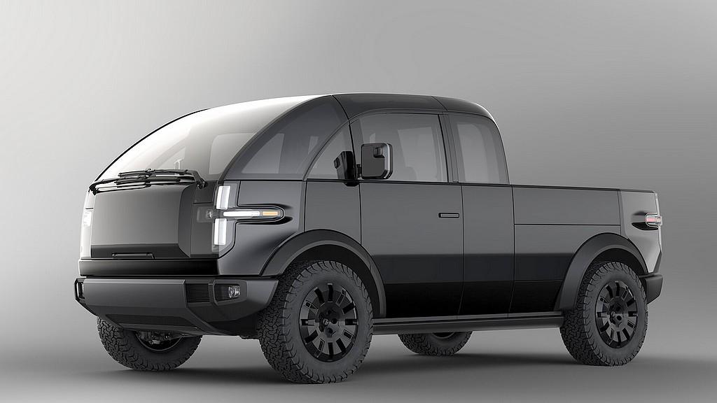 Der Pick-Up soll 2022 auf die Straße kommen. Das Design ist ein Hingucker. (Foto: Canoo/PR)