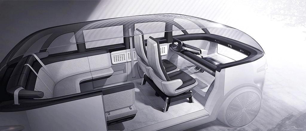 Zukunft ist immer: Der Innenraum des Canoo soll sehr variabel sein. (Foto: Canoo/PR)