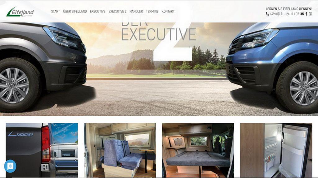 Die Fahrzeugmarke Eifelland setzt auf Qualität und als Basis auf dem VW Crafter. (screenshot: Eifelland)