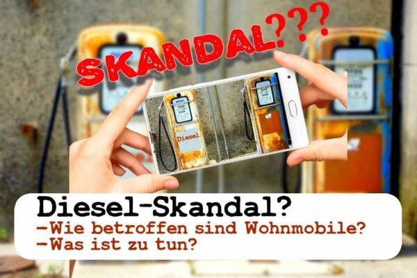 Gibt es einen Diesel-Skandal bei Wohnmobilen? We love C gibt Antworten. (Foto: FlorentP; pixabay.com / Montage: tom/dkf)