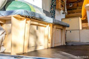 Unter der Eigenmarke Buildify bietet Hornbach passgenaue Möbel für Vans an. (Foto: Hornbach)