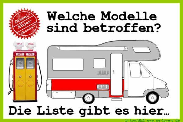 Dieselskandal bei Wohnmobilen? Für welche Modelle sind Klagen erhoben? (Foto: Montage: tom/dkf)