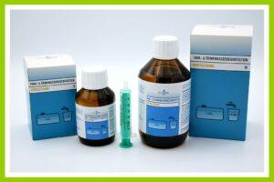 Goowaco bietet auch flüssige Desinfektionspräparate, die sofort einsatzfähig sind. (Foto: Silvertex)