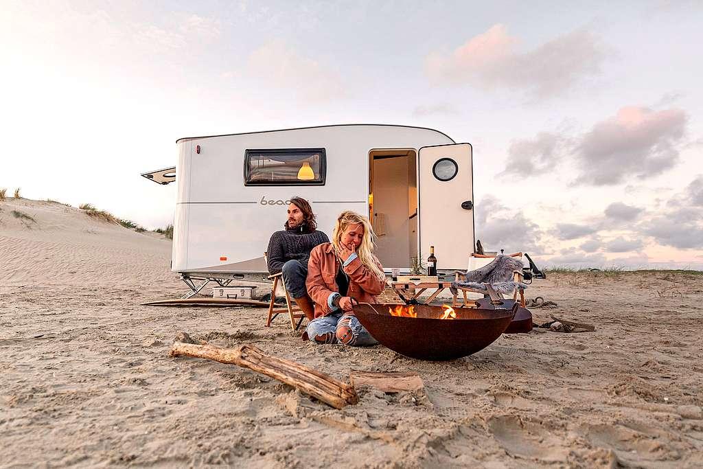 """Der Hersteller Hobby aus Fockbek bringt mit der """"beachy""""-Serie eine eigenständige Marke für Caravans. (Foto: Hobby)"""