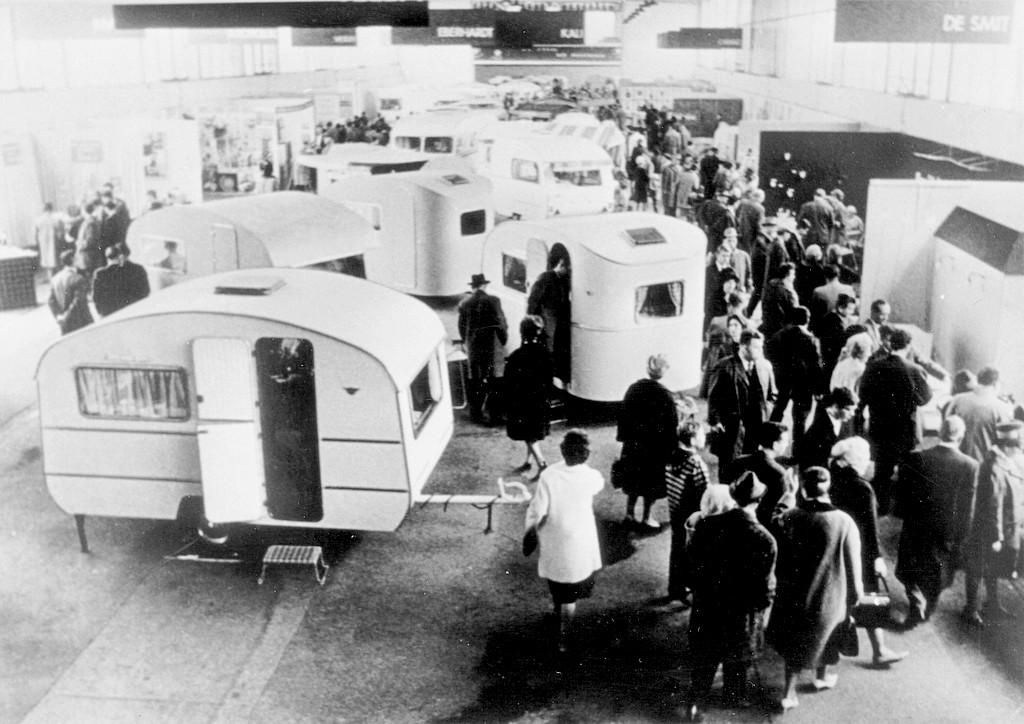 1962 ist das Jahr in dem alles begann: Der erste Caravan Salon findet damals noch in Essen statt. (Foto: Messe Düsseldorf / Tillmann)