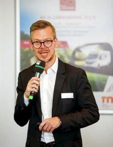 Stefan Koschke, Project Director, über die Vorteile der StarterWelt. (Foto: Messe Düsseldorf/ctillmann)