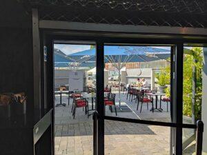 """Die Außengastronomie des Restaurant """"Aposto"""" runden das Angebot im Visiodrom kulinarisch ab. (Foto: tom/dkf)"""