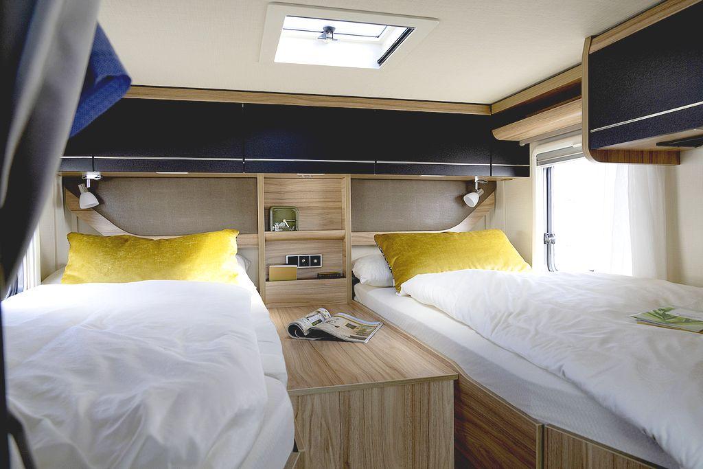 Komfortabele Einzelbetten oder komplette Liegewiese. Im Hymer ML-T 570 ist beides möglich. (Foto: Hymer)