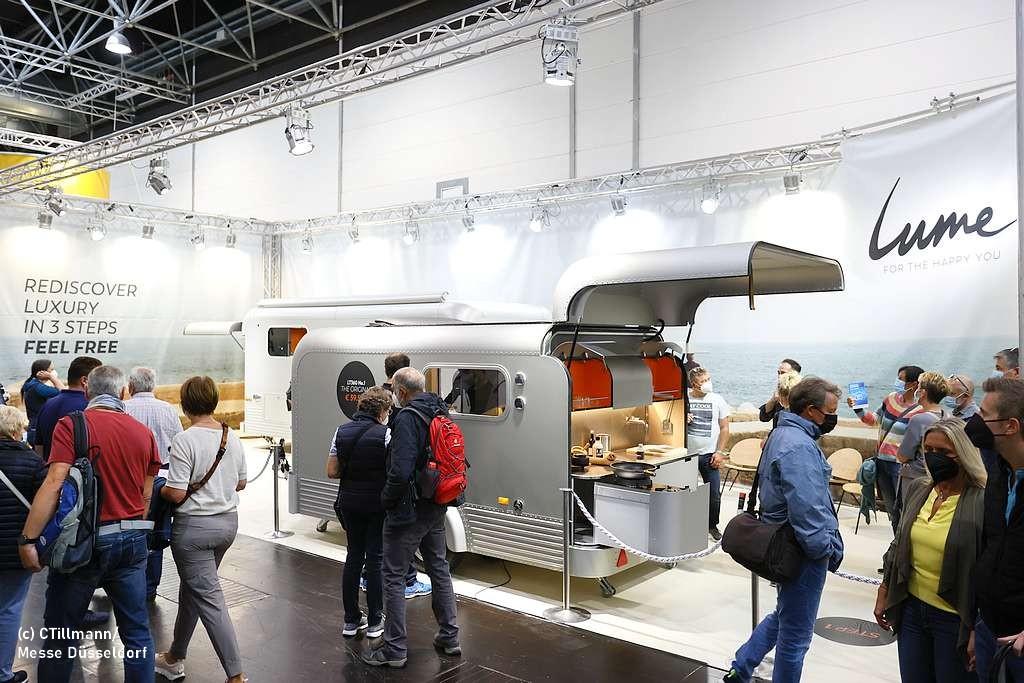 Caravaning wird immer individueller. Hier eine innovative Hecklösung. (Foto: Messe Düsseldorf; ctillmann)