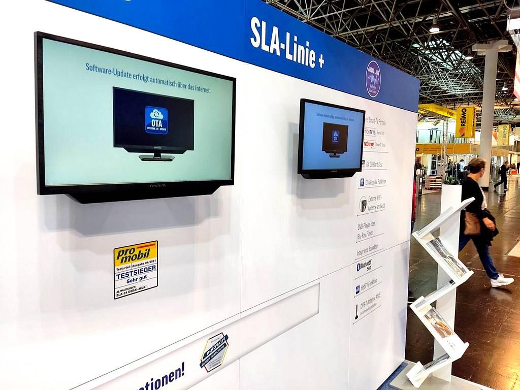 Die Fernseher von Alphatronics bieten viel Technik, Komfort und Qualität. (Foto: tom/dkf)