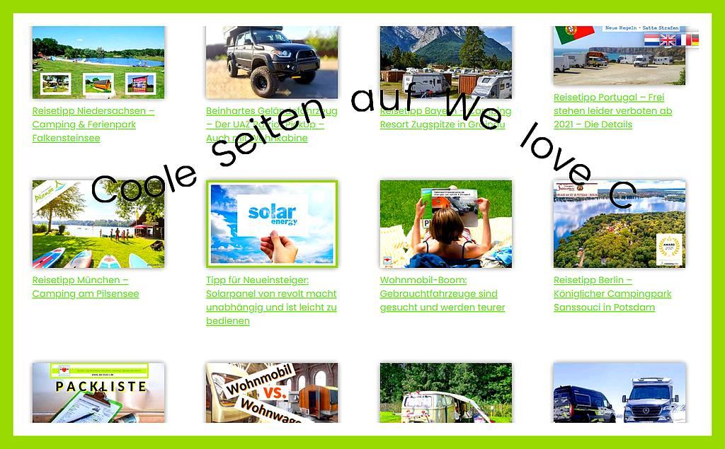 We love C: Die Seiten für Camping, Caravaning und Coolness. (screenshot: tom/dkf)